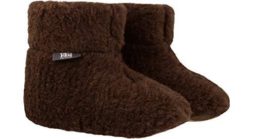 Marrone 100 Alto Lana pantofole Leather Pura Confortevoli Stile Rbj Da Casa Calde Shoes 962 Pecora Di Stivaletto ATwZzq