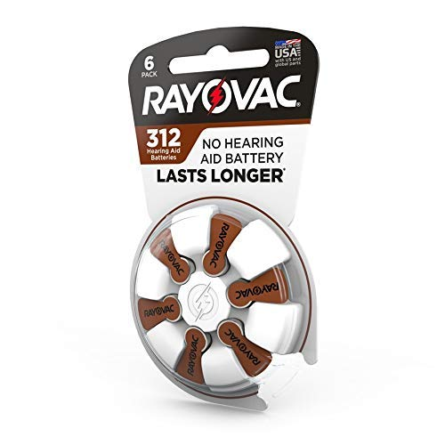 RAYOVAC Size 312 Hearing Aid Batteries, 48 ct ()