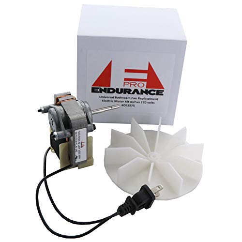 Endurance Pro Universal Bathroom Vent Fan Motor Complete Kit Replacement for C01575, 50 CFM, 120V ()