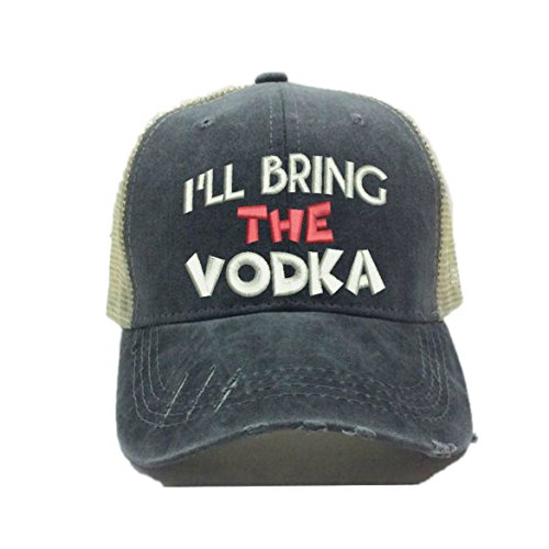 (I'll Bring The Alcohol Or Bad Decisions Custom Distressed Funny Party Trucker Hat