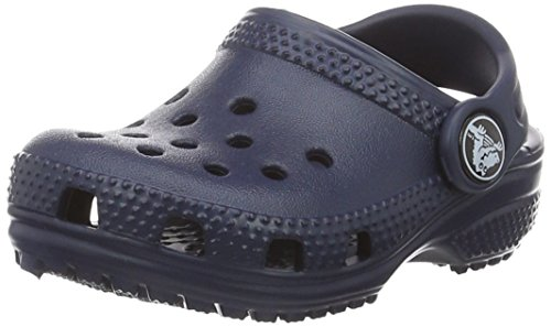 Crocs Kids' Classic K Clog, Navy, 10 M US Toddler by Crocs