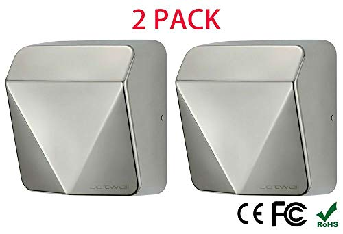 2 Pack New Upgrade High Speed Commercial Stainless Steel Hand Dryer