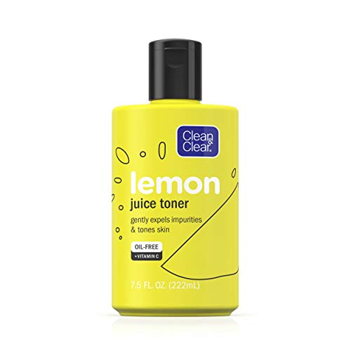 CLEAN & CLEAR Lemon Juice Facial Toner with Lemon Extract & Vitamin C, Alcohol-Free Cleansing Face Toner 7.5 oz (7.5 Ounce)