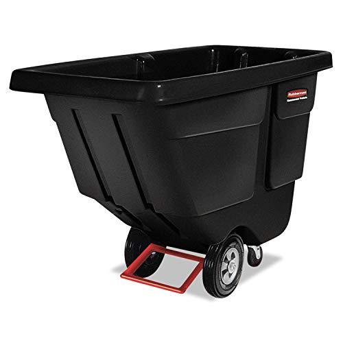 RCP1304BLA - Black Tilt Truck, Utility Duty, Rotational Molded, 1/2 Cubic Yard