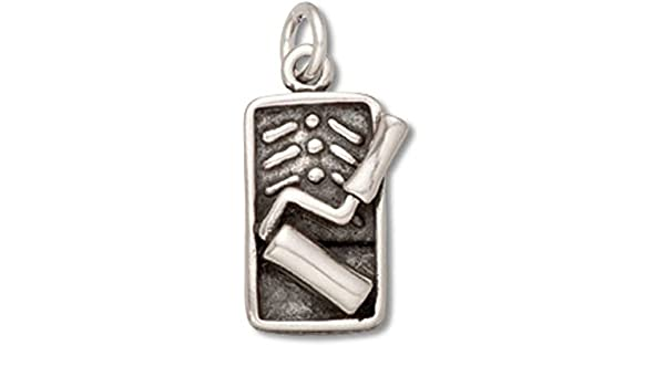 Sterling Silver Girls .8mm Box Chain 3D Paint Roller And Pan Pendant Necklace