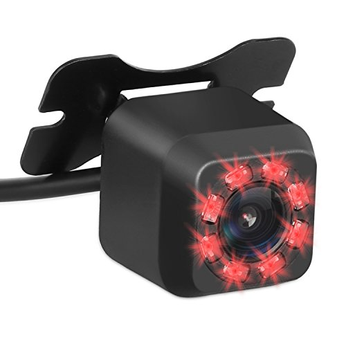 Price comparison product image DohonesBest Backup Camera with 8 Infrared Night Vision Car Rear Camera for Car HD Backup Camera Reverse Backup Camera with Waterproof CMOS HD 170 Degree Viewing Mini Universal Mount
