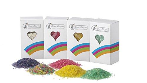 Riso colorato antimacchia 220 gr vari colori riso allegro