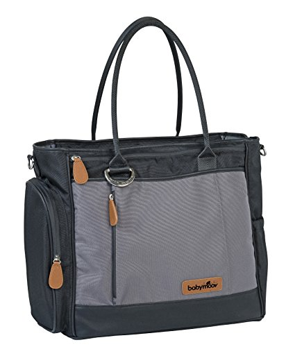 Babymoov Essential A043552 - Bolso maternal, color gris Negro