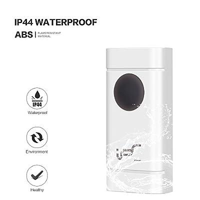 Wireless Doorbell Kit Waterproof Door Chime Operating Long Range 900ft, 52 Chimes 4 Level Adjustable Volume and LED Flash
