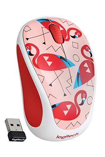 Logitech M325c Wireless Mouse Flamingo Pink & Lemon Yellow New