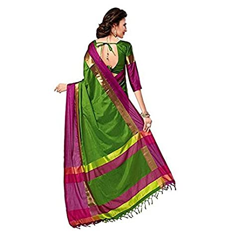 d61faf1960dd8 Livas Fashion Women s Cotton Silk Saree with Blouse Piece (Pack Of 5 ...