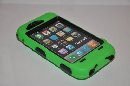 Body Armor for iPhone 3G / 3GS - Green & Black