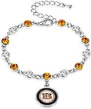 NFL Two Tone Crystal Bracelet | Sports Fan Jewelry Gift | Fashion Jewelry | Birthday & Holiday Gifts for W