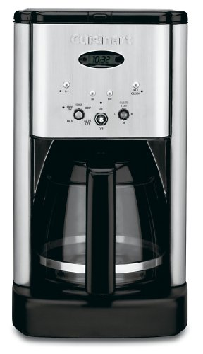Cuisinart DCC-1200 Brew Central 12-Cup Programmable Coffeemaker BlackBrushed Metal