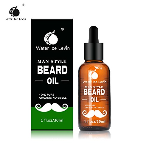 Organic Beard Oil Biotin for Beard Growth & Softer Beard Water Ice Levin Beard Oil and Leave-in Conditioner Softener Facial Hair Grooming Promote Beard growth