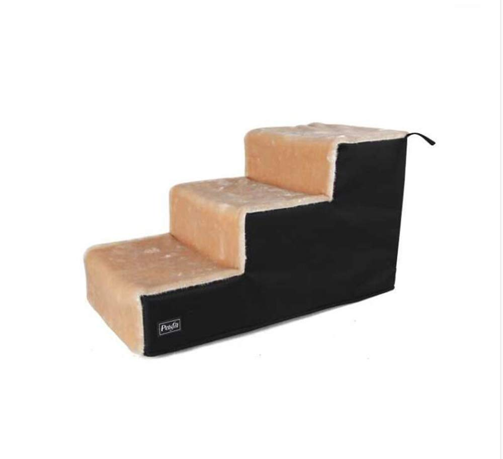 36x69x39cm MMADD Pet stairsDog stairs, pet stairs cat dog stairs sponge ladder steps to bed ladder,36x69x39cm