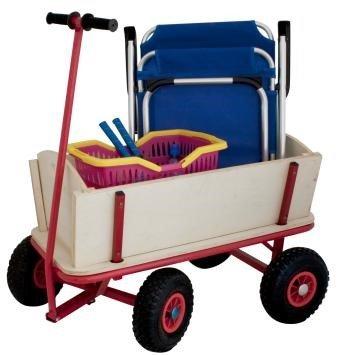 Izzy Carretillas de Carro de Madera con neumáticos de Aire para Playa y Estructura de Metal