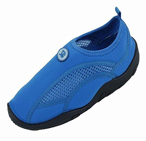 Brand New Kids Slip-On Athletic Blue Water Shoes / Aqua Socks Size 3