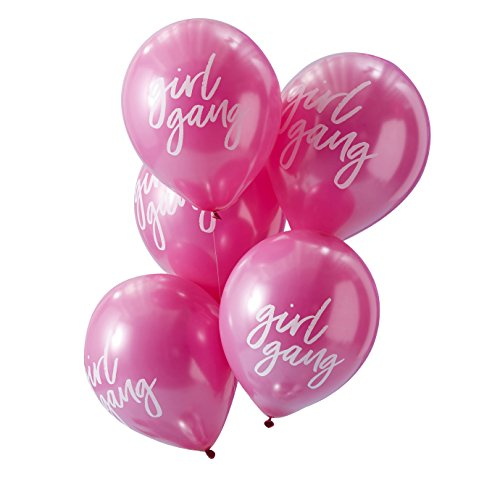 (Hot Pink & White Party Balloons Decorations - 10)