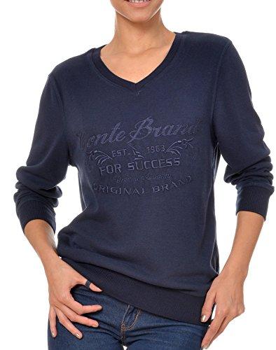 M.Conte Damen Sweat-Shirt Sweater Sweat Korale Dark Blue Größe L