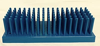 """Full-View Series 207 Blue Test tube Support Diameter 10 - 13, Tubes 80, Drying Pins 102, 9"""" x 3 1/2"""" x 2 5/8"""""""