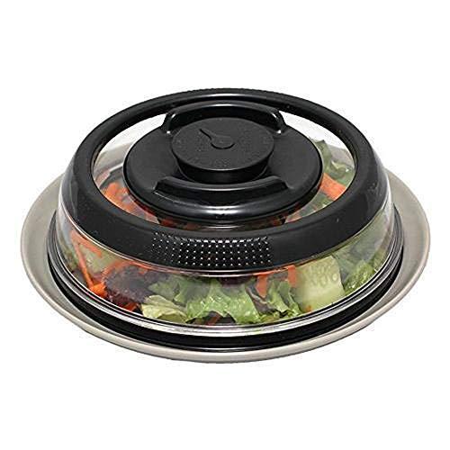 Vacuum Food Seal Cover, Airtight Vacuum Food Sealer Mini Container Cover Kitchen Instant Vacuum Food Sealer Fresh Cover (Black) -