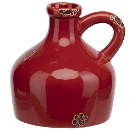 "PRINZ 6"" Red Farmhouse Ceramic Jug"