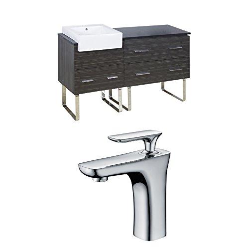 "Jade Bath JB-10411 60"" W x 20"" D Plywood-Melamine Vanity Set with Single Hole CUPC Faucet, Dawn Grey hot sale 2017"