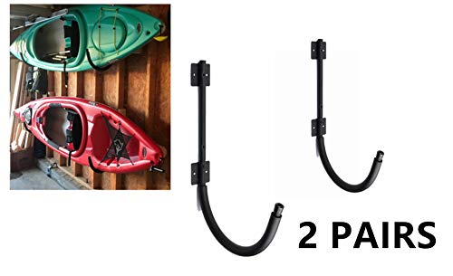 Mrhardware 2 Pairs Kayak Wall Hanger 100 Pound Capacity Kayak Storage Garage or Storage ()