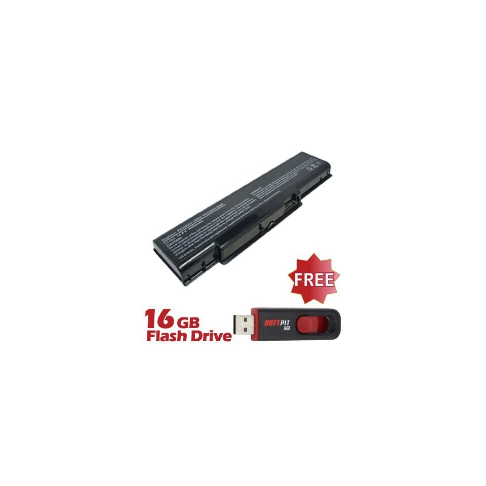 Battpit™ Laptop / Notebook Battery Replacement for Toshiba Satellite A65 S126 (6600 mAh) with FREE 16GB Battpit™ USB Flash Drive