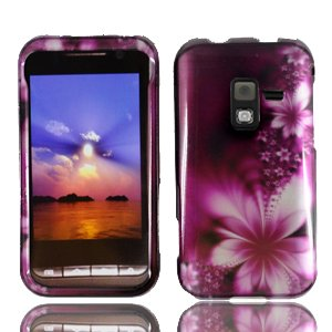 For Sprint Samsung D600 Conquer 4g Accessory - Purple Daisy Design Hard Case Protector Cover + Lf Stylus Pen ()