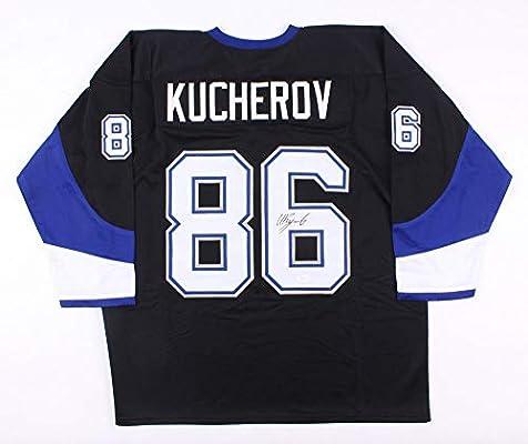 the latest 09a11 6a7c3 Nikita Kucherov Autographed Signed Black Tampa Bay Lightning ...