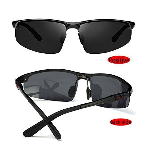 pesca estuche Gafas para de negro polarizadas conducir sol o con hombre para para PaCqP