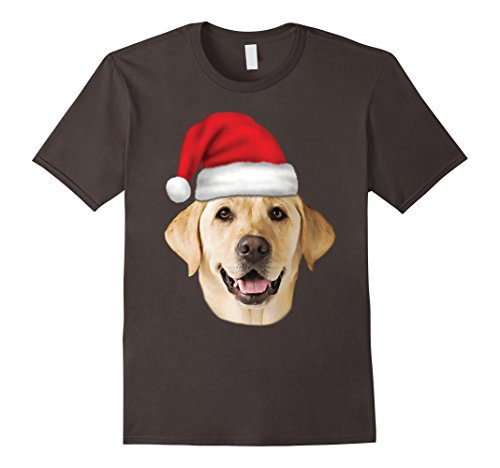 Santa Hat Yellow Lab Portrait Labrador Xmas Holiday T-Shirt ()