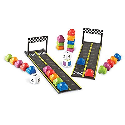 Learning Resources Mini Motor Math Activity Set, Homeschool, Includes Counting, Pattern, Addition and Subtraction Activities, 31 Pieces, Ages 4+: Office Products
