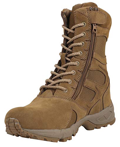 Entry Boot Tan Desert 8'' Forced Rothco Zip Side UqE14