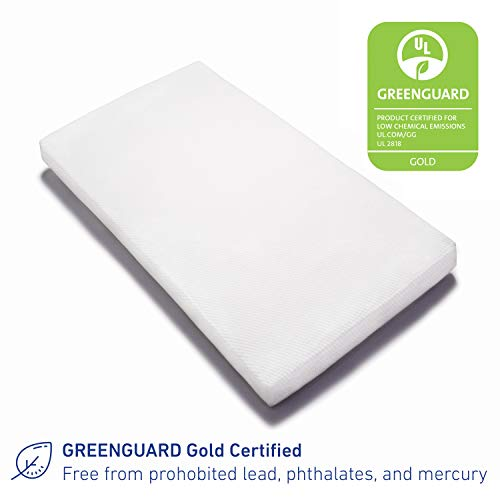 41RM2dMtMYL - Graco Premium Foam Crib And Toddler Mattress In A Box – GREENGUARD Gold Certified, Non-Toxic, Breathable, Removable Washable Water Resistant Outer Cover