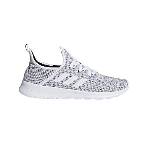 adidas Performance Women's Cloudfoam Pure Running Shoe, White/White/Black, 7 M US