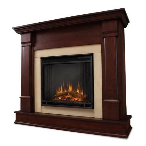 Jensen Indoor Tv - Real Flame G8600E-DM Electric Fireplace G8600E Silverton Dark Mahogany, Dk