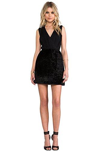 alice and olivia black cocktail dress - 7