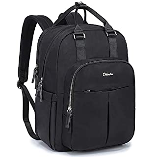 Diaper Bag Backpack, Dikaslon Convertible Unisex Travel Back Pack Maternity Baby Bags for Boys and Girls with Changing Pad, Large Capacity, Waterproof and Stylish, Black