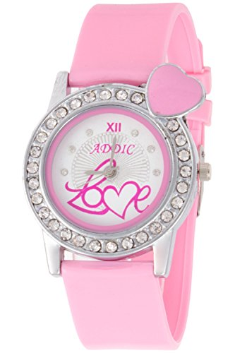 Addic Analogue Soft Strap White Dial Watch for Women, Girls