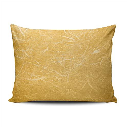 - Fanaing Bedroom Custom Decor Orange Geometric Wavy Pillowcase Soft Zippered Throw Pillow Cover Cushion Case Fashion Design One Sided Printed 16x24 Inches