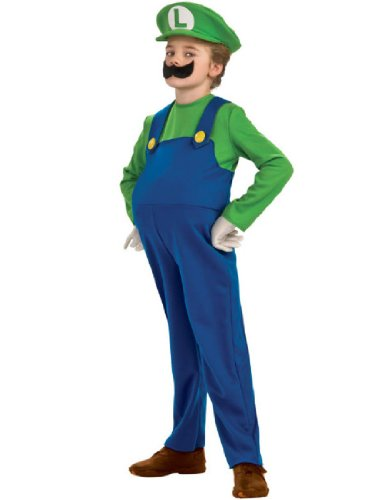 Super Mario Brothers, Deluxe Luigi Costume, Large (Mario And Luigi Costumes Kids)