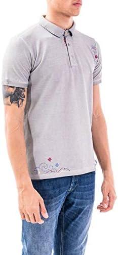 Bob Fashion Mens RICKYR0126PLASTF Grey Polo Shirt | Spring-Summer 20