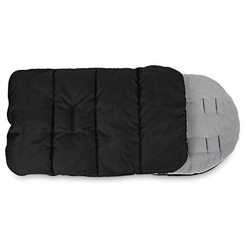 Kidshome Baby Sleeping Bag Universal 3 in 1 Stroller Annex Mat Foot Cover Waterproof Windproof Cold-proof Detachable (grey)