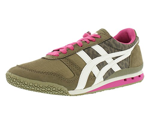 Onitsuka Tiger Women's Ultimate 81 Shoe,Olive Leopard/Off White,5.5 M US