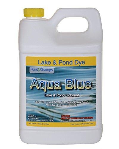 Aqua blue lake pond dye 1 gallon import it all for Blue pond dye