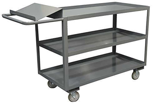 (Durham OPC-2448-3-95 Order Picking Cart with 3 Shelves, 24