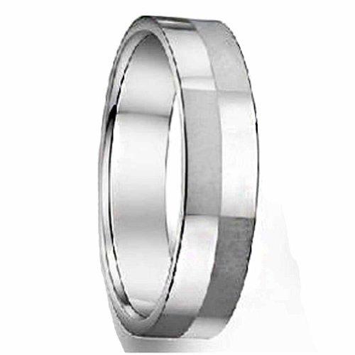 MoAndy Schmuck Edelstahl Gitter Lovers 'Ringe